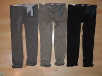 Hugo Boss Casual Pants 100% Cotton Gray Khaki Black Regular 30 32 34 36 38 40 42