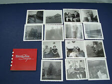 vintage 23  black  white photo lot holiday family picnic mail pouch 1950s -1960s