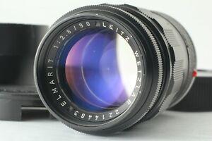 [N MINT] Leica Leitz Elmarit M 90mm F2.8 Black Lens Ver.I 1st Fist Version JAPAN
