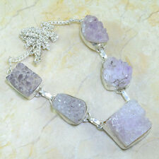 """Handmade Purple Cluster Amethyst 925 Sterling Silver Necklace 21 1/2"""" #X39211"""