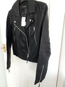 Vero Moda 100% genuine leather biker jacket size small