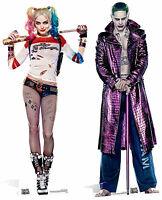 Suicide Squad Harley Quinn & EL JOKER lifesize Silueta de cartón VERTICAL PACK 2