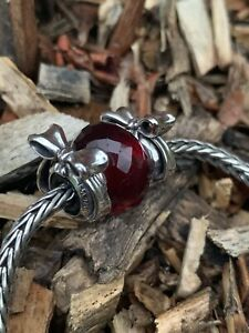 TROLLBEADS PAIR OF SILVER BOW SPACER BEADS  RRP £110