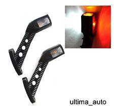 2 X LED SIDE OUTLINE STALK MARKER LIGHTS LAMP INDICATOR TRAILER TRUCK 12/24V