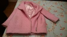 NEXT INFANT GIRLS 5-6 YRS ZIP UP SMART PINK COAT WITH SATIN LINING