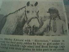 newspaper picture 1945 -  leicester shirley edward skyrocket horse