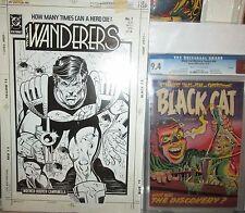 Wanderers 7 MECHANICAL COVER ART 1988 Hoover Paste-Ups DC Comics B/W Large piece