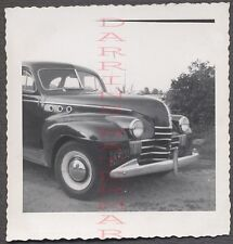 Vintage Car Photo 1940 Olsmobile Olds w/ Custom Ports Indiana License 674763