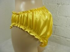 sissy sexy silky yellow satin  frilly panties mens sexy lingerie knickers