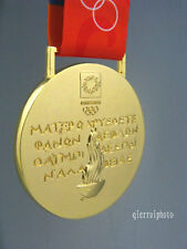 2004 Athens Olympic Gold Medal with Silk Ribbons **Free Shipping**