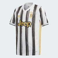 adidas Kids Juventus 20/21 Home Jersey White/Black Authentic EI9900 Youth Large