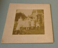 Mount Airy Pennsylvania Birbing Family Cabinet Card Photo with Scary Doll