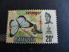 MALAYSIA/SELANGOR 1971 SG 157  BUTTERFLIES .  MNH