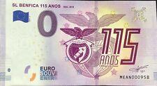 BILLET 0 EURO SOUVENIR SL BENFICA 115 ANOS 1904-2019  PORTUGAL  2019-1