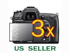 3x Nikon Digital SLR D7100 D7200 Camera Clear LCD Screen Protector Guard Shield