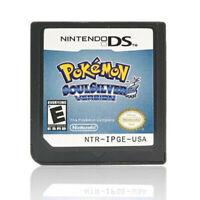 SoulSilver Version  2010 Video Game Cartridge  For Nintendo 3DS DS Li US CA Ver.