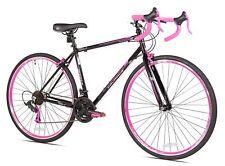"""700c SGK Pink/Black Women's 21-Multi Speed Hybrid Comfort Road Bike 19"""" Frame"""