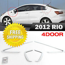 A C Pillar Chrome Molding Cover Garnish 4Pcs For KIA 2012-2017 Rio Pride Sedan