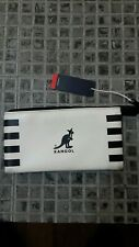 Brand New white and Black Kangol Purse