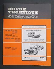 REVUE TECHNIQUE AUTOMOBILE RTA TOYOTA COROLLA 1200 CITROEN CX 2000 n°370