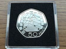 1992 1993 50p PROOF Rare EEC Coin Royal Mint Dual Date Fifty Pence Free Case BU