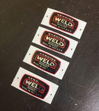 4 Weld Square Racing Lip Decals Draglite rims Pro Stars drag alumastar wheels