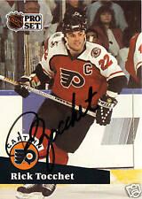Rick Tocchet signed hockey card Flyers NHL