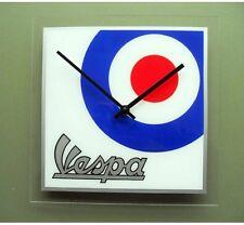 Retro style Vespa & mod target wall clock