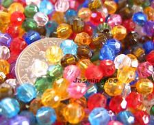 800+ Faceted Round Acrylic Plastic Beads MULTI 4-5mm