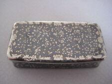 Russian Silver and Niello Snuff Box Moscow 1857
