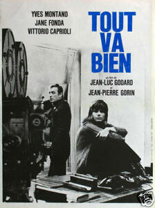 Tout va bien Yves Montand Jane Fonda movie poster print