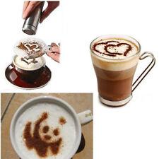 16pcs Coffee Stencil Filter Coffee Maker Coffee Barista Mold Cappuccino Template