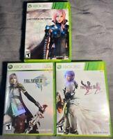 Final Fantasy XIII, XIII-2, & Lightning Returns Game Lot (Xbox 360)