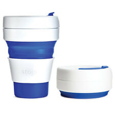 Stojo Cup: Reusable Silicone Pocket Coffee Cup Collapsible Foldable 100%25 Genuine