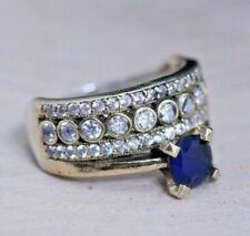 ATTRACTIVE ENGAGEMENT & WEDDING RING FOR WOMEN'S 1.8 CT SAPPHIRE 14K WHITE GOLD