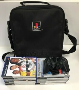 Bundle 15 X Playstation 2 Mixed Games With Carry Bag and Black Controller #271