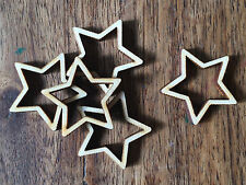 20 x Wooden Mini STARS EMBELLISHMENT Craft Card Scrapbook Art/sd424