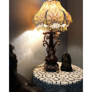 Vintage Lamp Shades Cover Hand Knitting Towel Home Lamp Decoration