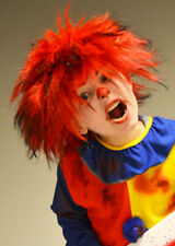 Childrens Halloween Scary Killer Clown Red Wig