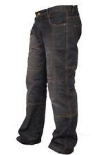 Pantaloni uomo con imbottitura rimovibile, con protezioni ginocchia per motociclista