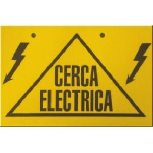 Insprovet Sign Signal Near Electric 6 11/16x4 5/16in, PVC