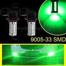 2pcs Green 9005 HB3 33SMD 5730Chip 9140 LED For Car Fog Light Truck Bulbs Lamp