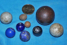 Select Collection Of 9 Antique Bennington Stone And Clay Marbles