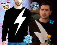 David Rose Schitt's Creek Lightning Bolt Sweater Schitt's Creek Thunderbolt