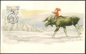 Aland 2004 Christmas Weihnachten Maxicard (used in post)
