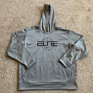 Nike Therma Fit Elite Men's 2XL Gray Hoodie Sweatshirt 1B
