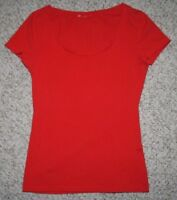Unbranded Crewneck Tee T-Shirt Red Small Cotton Polyester Women's Short Sleeve