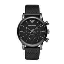 Emporio Armani Ar1737 Chronograph Men's Watch Black Stainless Steel