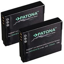 2 x Patona Premium Akku für Panasonic Lumix DMC-TZ56, DMC-TZ58 - DMW-BCM13-E