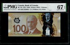CANADA - 100 DOLLARS - BC 73c 2011 - PMG SUPERB GEM UNC 67 EPQ WILKINS - POLOZ